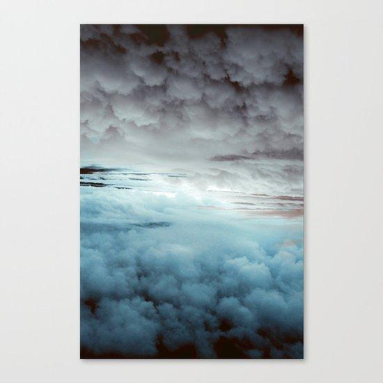 Glacier Painted Clouds Canvas Print