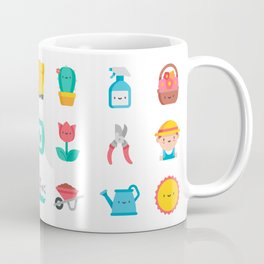 CUTE GARDENING PATTERN Coffee Mug