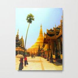 Pagoda in Myanmar Metal Print
