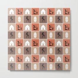 African Tribal Pattern No. 117 Metal Print