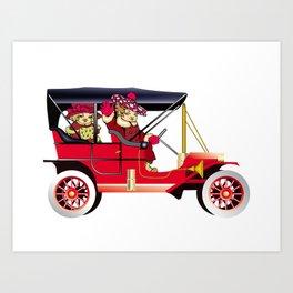 Vintag car Art Print