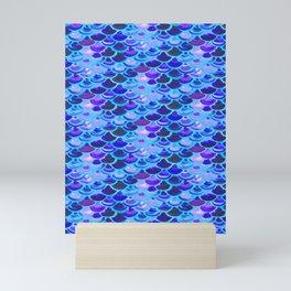 Blue Mermaid Skin Mini Art Print