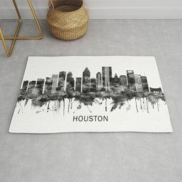 Houston Texas Skyline BW Rug