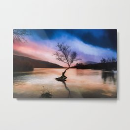 Llanberis Lake Tree Metal Print