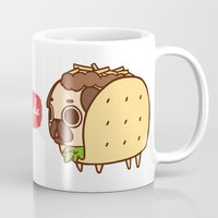 taco Mugs featuring Puglie Taco by Puglie Pug