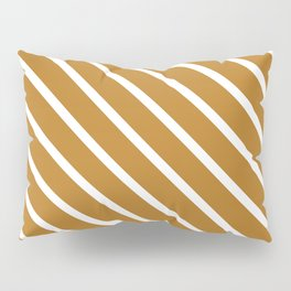Peanut Butter Diagonal Stripes Pillow Sham
