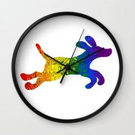 Pride Puppy Wall Clock