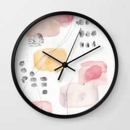 180805 Subtle Confidence 1| Colorful Abstract |Modern Watercolor Art Wall Clock