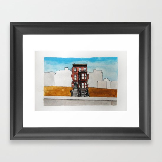 Last House Standing Framed Art Print
