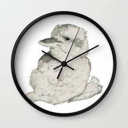 Contended Kookaburra Wall Clock