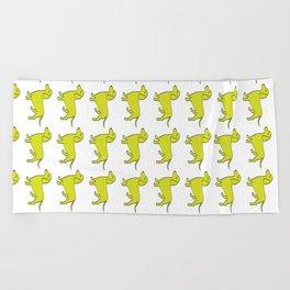 Doxie Love - Lime Beach Towel