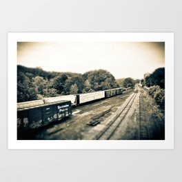 The Train Gang Art Print