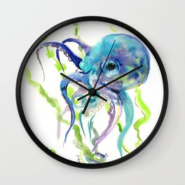 Underwater Scene Design, Octopus Wall Clock