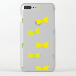Bow Tie Pattern Clear iPhone Case