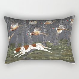 Pheasant Hunt Rectangular Pillow