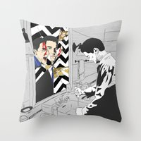 twin peaks Throw Pillows featuring TWIN PEAKS by Guiltycubicle
