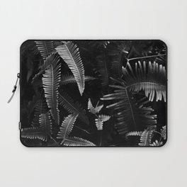Hawaii leaf Black & White  Print Laptop Sleeve