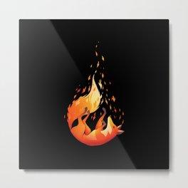 Falling Fox Metal Print