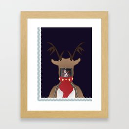 Christmas Card - I Can't Find Britain! Framed Art Print