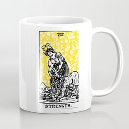 Floral Tarot Print - Strength Coffee Mug