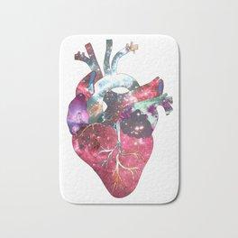 Superstar Heart (on white) Bath Mat