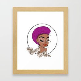 Bonnet Babe - Black Girl Magic Framed Art Print