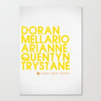 martell Canvas Prints featuring Doran Martell Typography series II by P3RF3KT