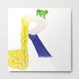 R is for Rapunzel Metal Print