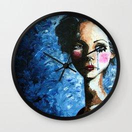 Sad Clown Girl Wall Clock