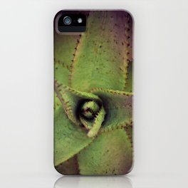 Succulent cactus close-up - Aloe Photography #Society6 iPhone Case