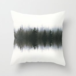 Sound waves -woods Throw Pillow