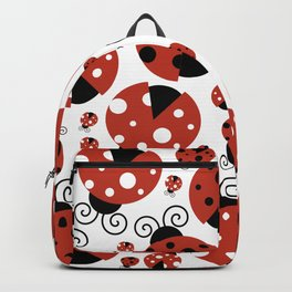 Ladybugs (Ladybirds, Lady Beetles) - Red Black Backpack