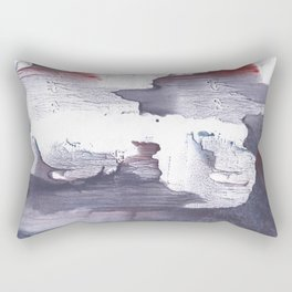 Dark slate gray abstract watercolor Rectangular Pillow