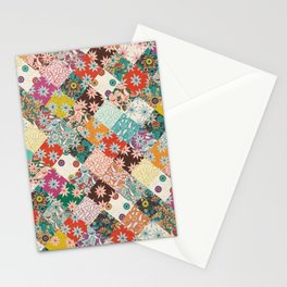 sarilmak patchwork Stationery Cards