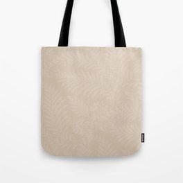 Pantone Hazelnut Fancy Leaves Scroll Damask Pattern Tote Bag