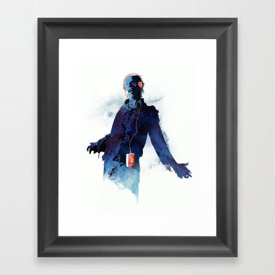 The Walkman Dead Framed Art Print