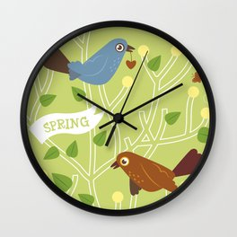 4 Seasons - Spring Wall Clock
