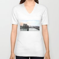 industrial V-neck T-shirts featuring Industrial I. by zenitt