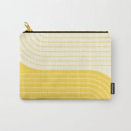 Two Tone Line Curvature V Carry-All Pouch