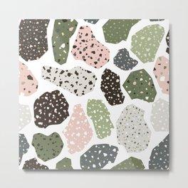 Terrazzo seamless pattern Metal Print