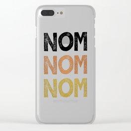 Nom Nom Nom Clear iPhone Case