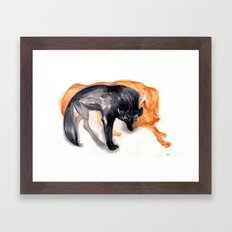 Two Wolves Framed Art Print