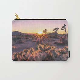 Joshua Tree National Park Cholla Cactus Sunset Sun flare (warm tones) Carry-All Pouch