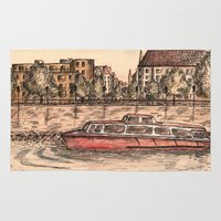 budapest Area & Throw Rugs featuring Budapest Art by Daria Kotyk
