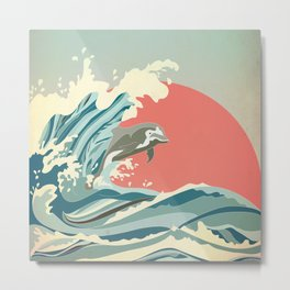 dolphin happiness Metal Print