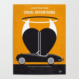 No635 My Cruel Intentions minimal movie poster Poster