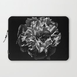 Backyard Flowers In Black And White 3 Laptop Sleeve
