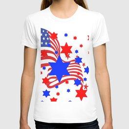 PATRIOTIC JULY 4TH AMERICAN FLAG ART T-shirt
