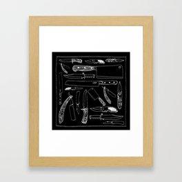Knifes Framed Art Print