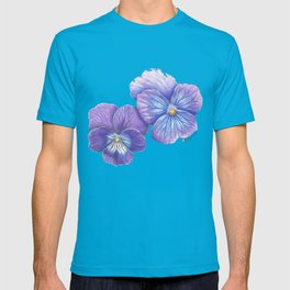 Purple Pansies T-shirt